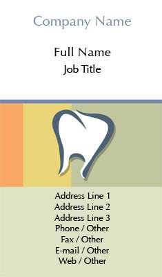 Striped Dentist Business Card Template